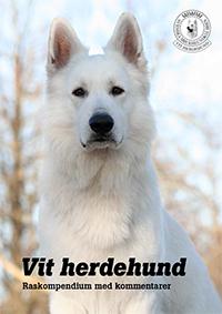 Raskompendie vit herdehund